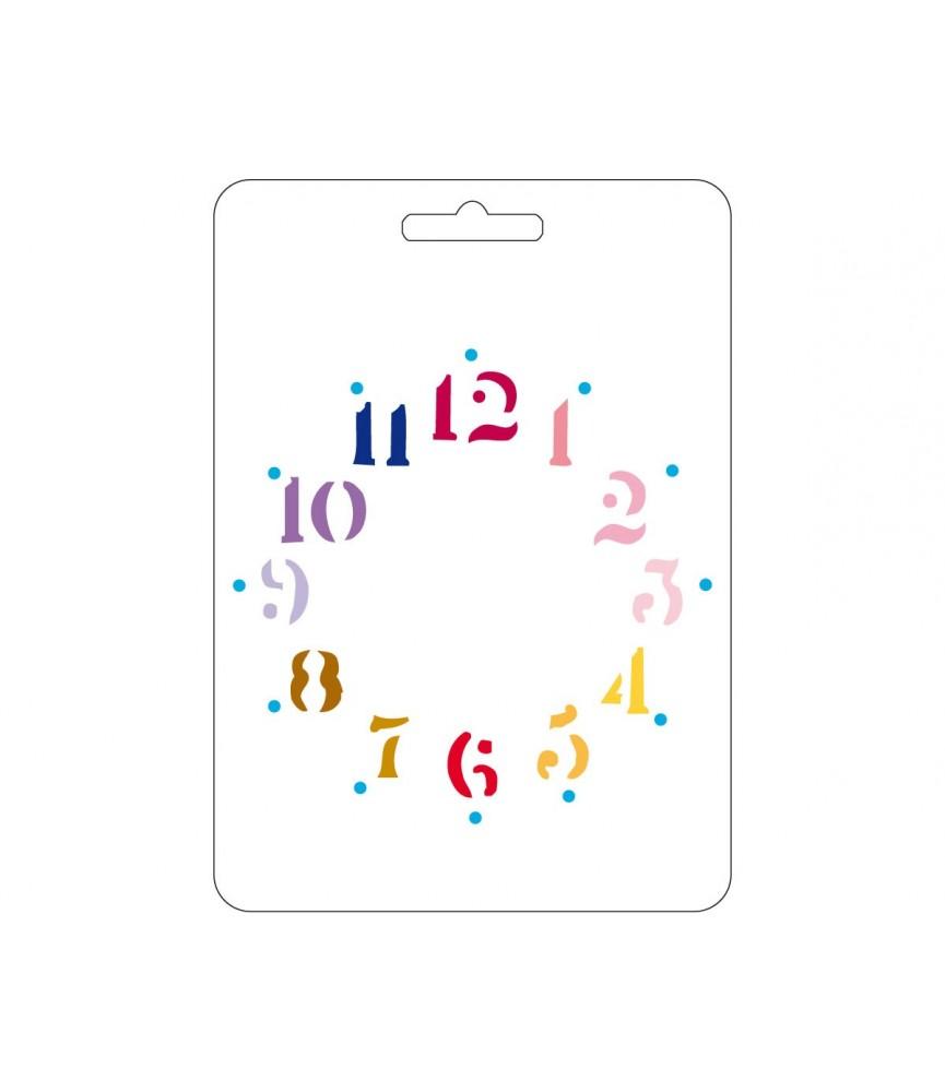 Plantilla reloj 15x21cm