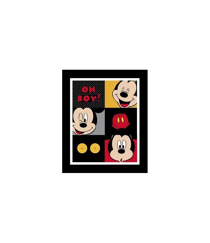 Panel de 90 x 110 cm Mickey Mouse Negro