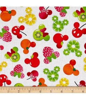 Tela Mickey Mouse frutas