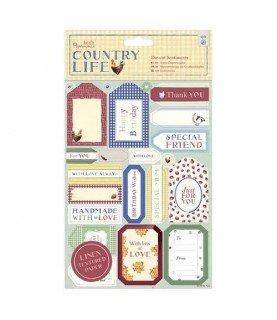 2 Hojas de pegatinas decorativas mod Country life
