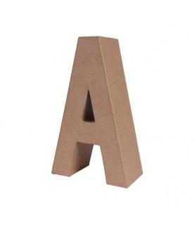 Letra A mediana de cartón o papel maché para manualidades