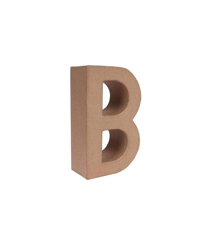 Letra B mediana de cartón o papel maché para manualidades
