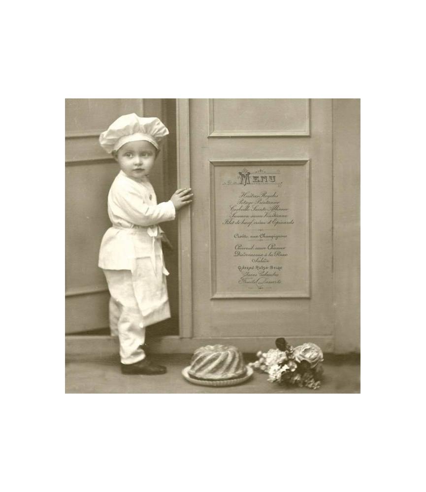 Servilleta Vintage chef 33x33cm para decoupage y manualidades
