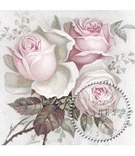 Comprar Servilleta Vintage big Rose 33x33cm para decoupage y manualidades