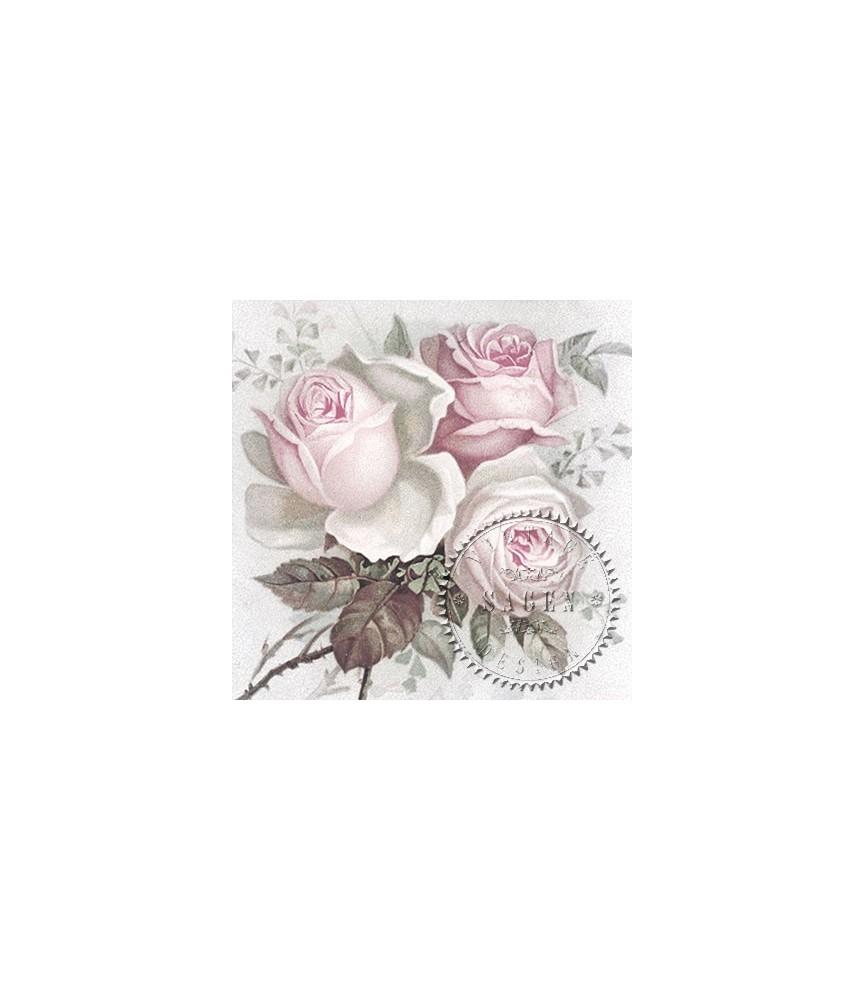 Servilleta Vintage big Rose 33x33cm para decoupage y manualidades