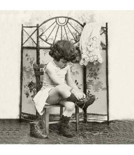 Servilleta Vintage fashion girl 33x33cm, para decoupage y manualidades