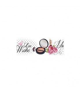 Transferencia en cenefa mod maquillaje para decoración y manualidades