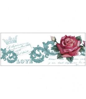 Transferencia en cenefa mod Love para decoración y manuaidades