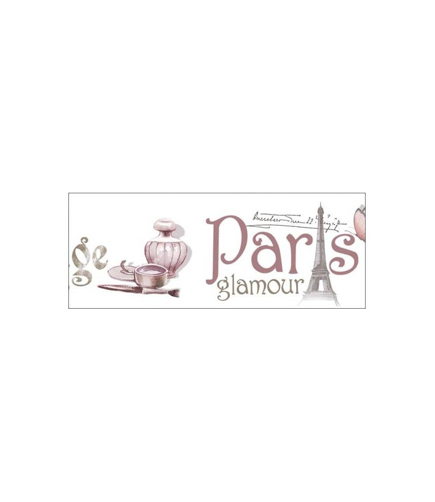 Transferencia en cenefa mod Paris para decoraciones y manualidades