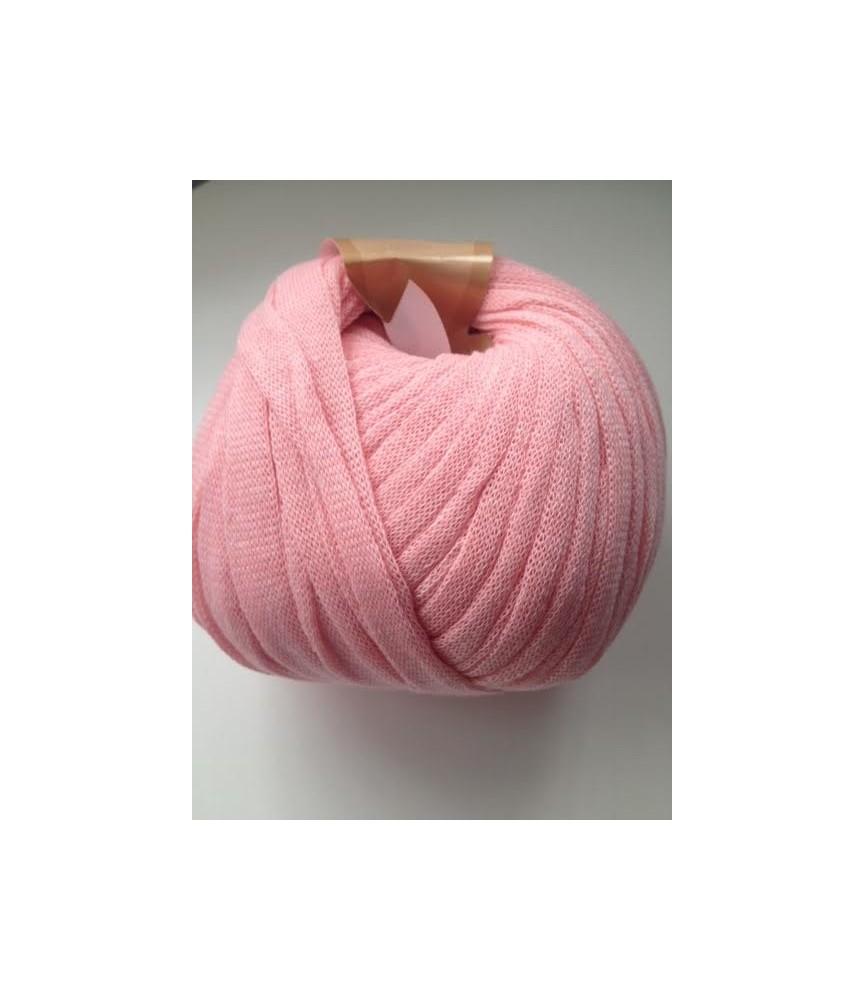 Ovillo de trapillo ligero rosa claro