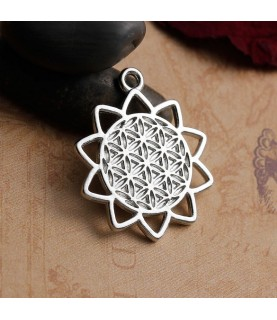 Colgante flor de la vida en plata