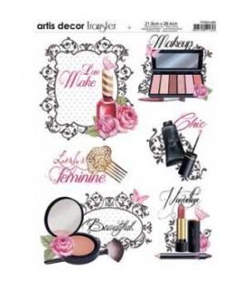 Transferencia Maquillaje A4 para decoración y manualidades