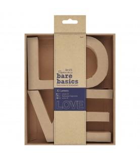 Palabra de carton 3D LOVE