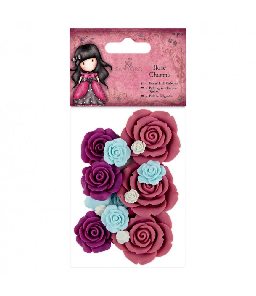 Pack 20 flores de resina Gorjuss para decorar tus manualidades