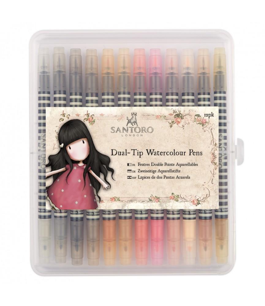 Caja de 12 rotuladores Watercolour Gorjuss colores neutrales