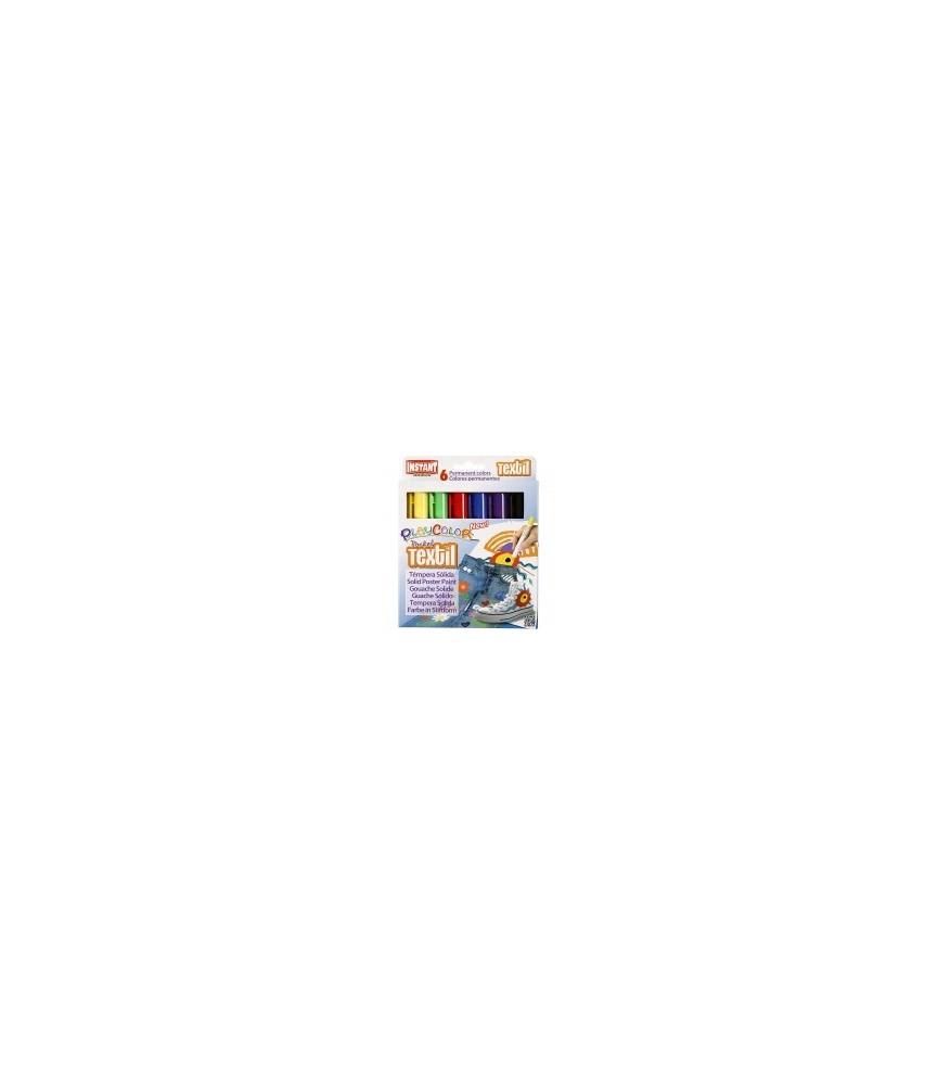 Caja de 6 Rotuladores Textil Playcolor para dintar y decorar tejido