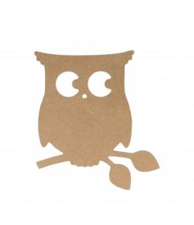 Imagén:  Silueta Buho de madera