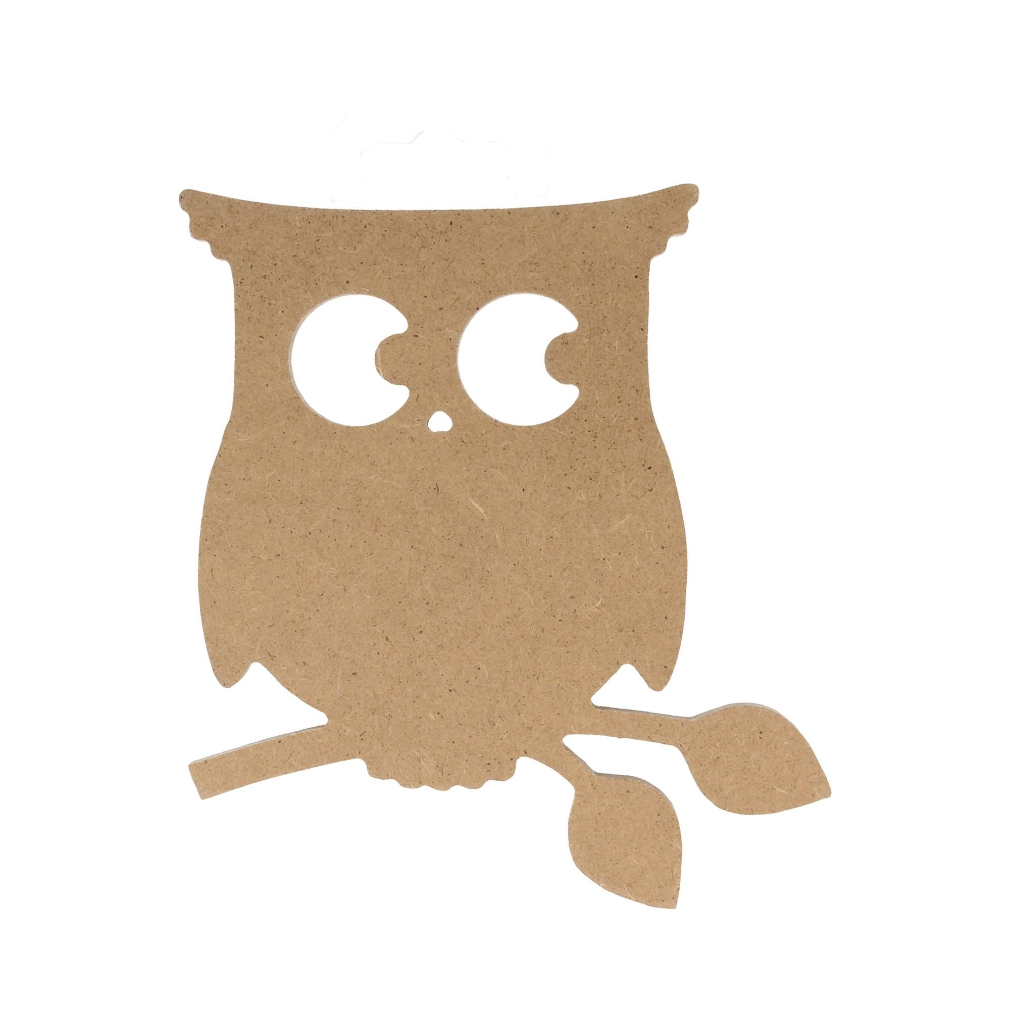 Silueta Buho de madera - Conideade para pintar y decorar