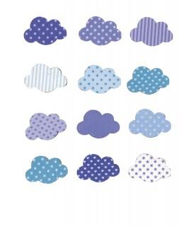 Set de 12 nubes adhesivas de madera