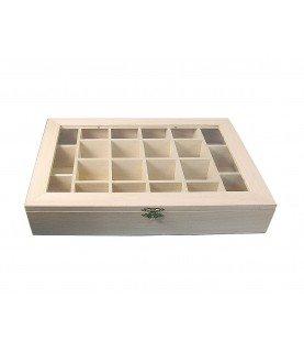 Comprar Caja vitrina expositor compartimentos