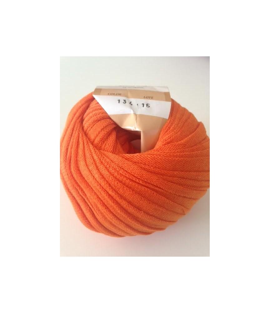 Ovillo de trapillo ligero naranja
