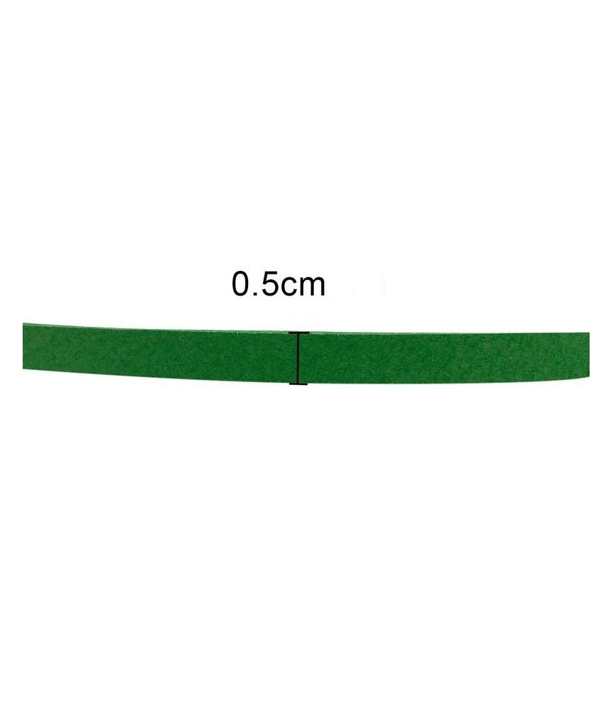 Papel quilling 5mm colores verdes