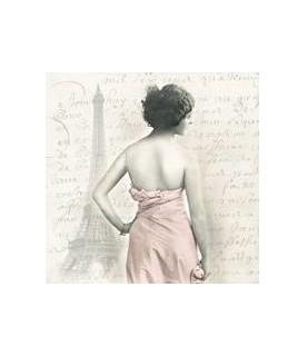 Servilleta Vintage pink lady 33x33cm