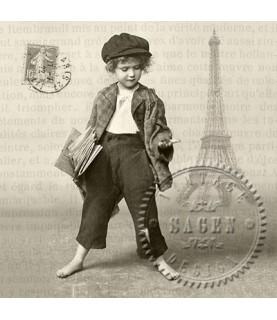 Servilleta Vintage newpaper boy 33x33cm