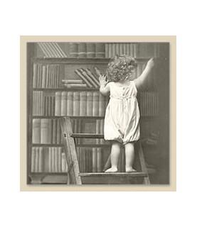 Imagén: Servilleta Vintage library boy 33x33cm
