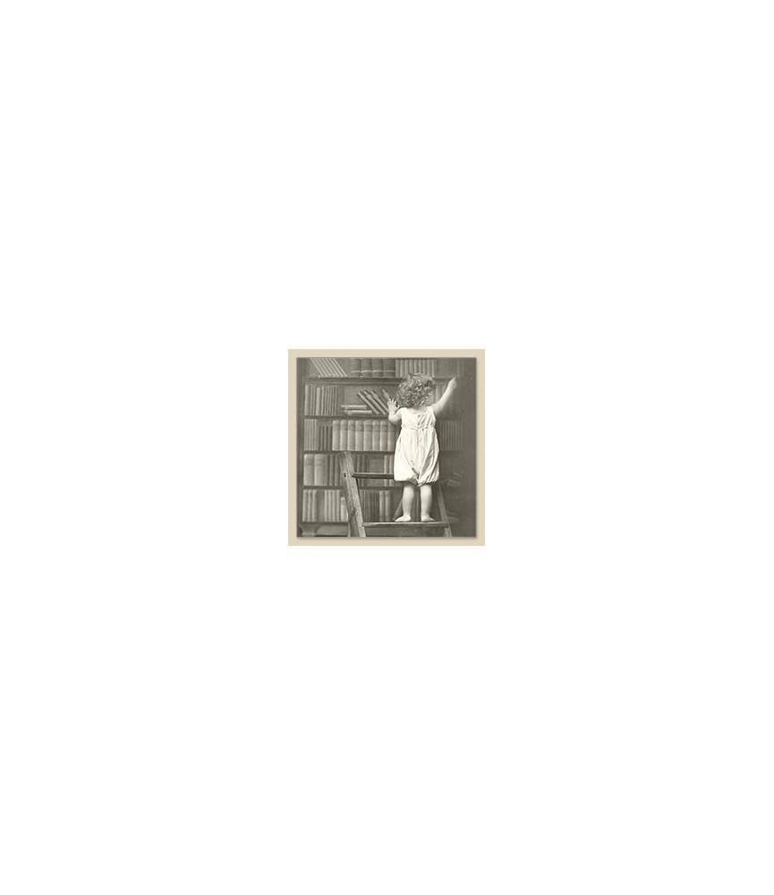Servilleta Vintage library boy 33x33cm