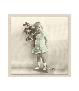 Imagén: Servilleta Vintage girl 33x33cm