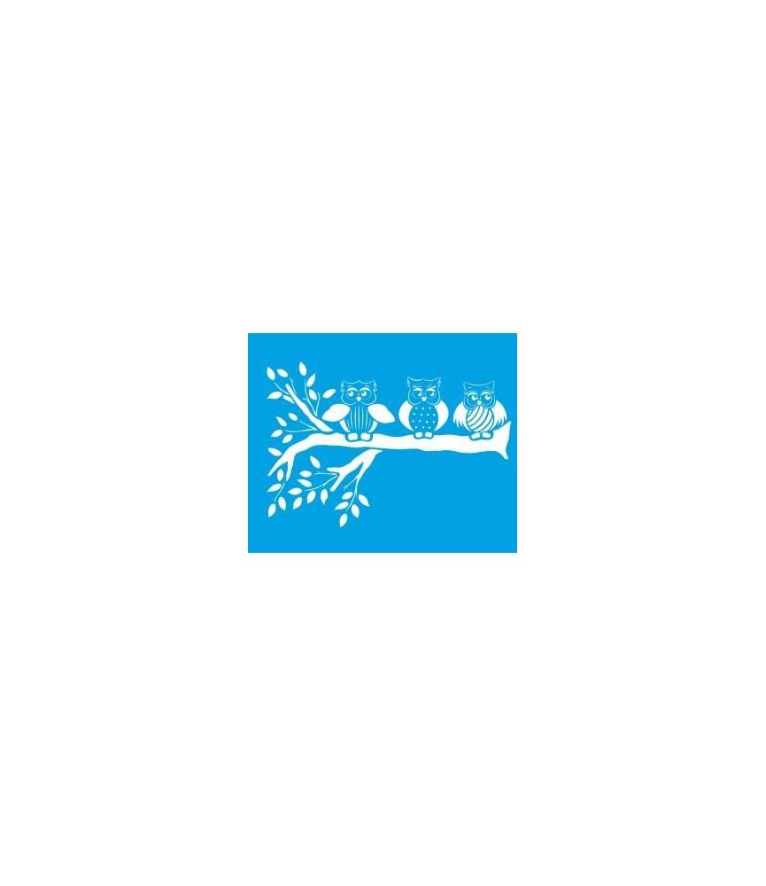 Plantilla stencil 21 x 17 cm Buhos