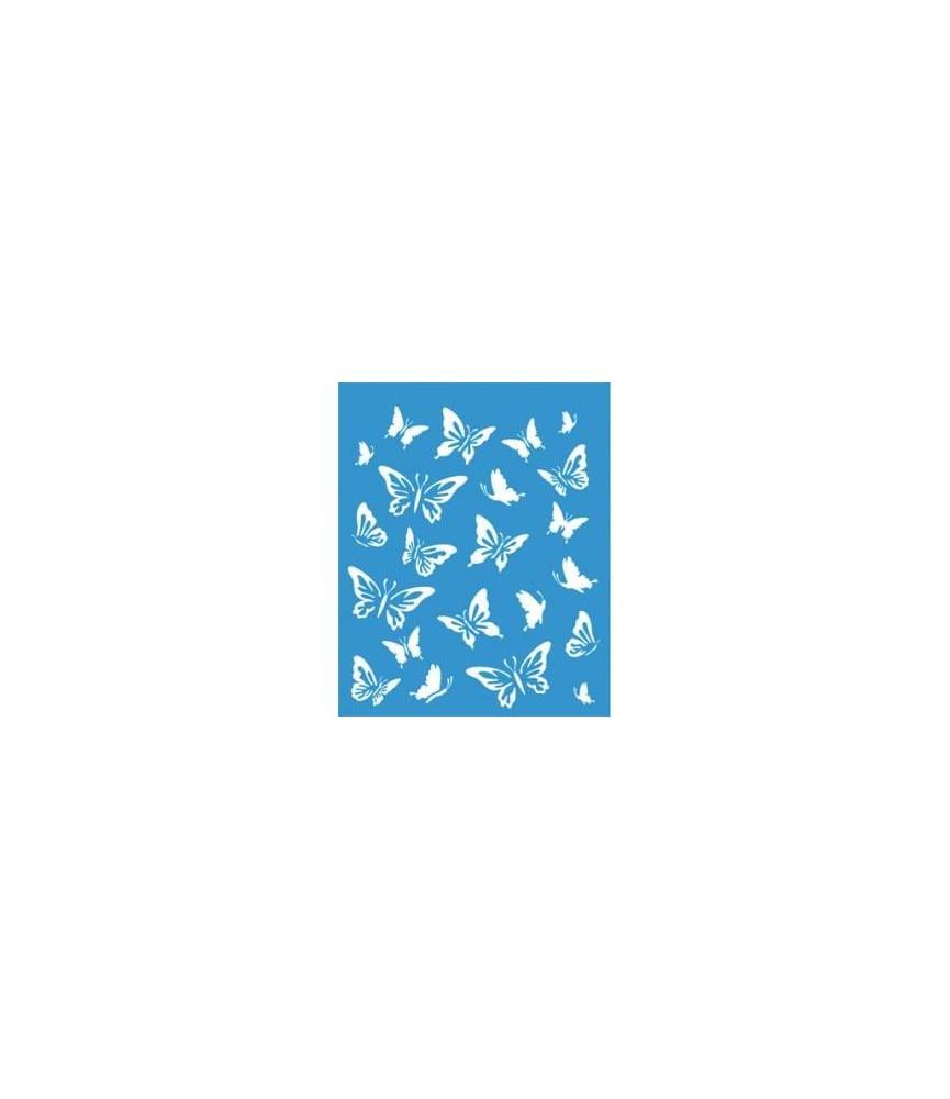 Plantilla stencil 21 x 17 cm mariposas