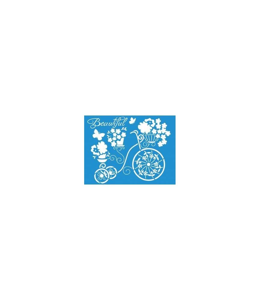 Plantilla stencil 21 x 17 cm bicicleta