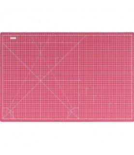 base de corte doble cara rosa 45x30 cm