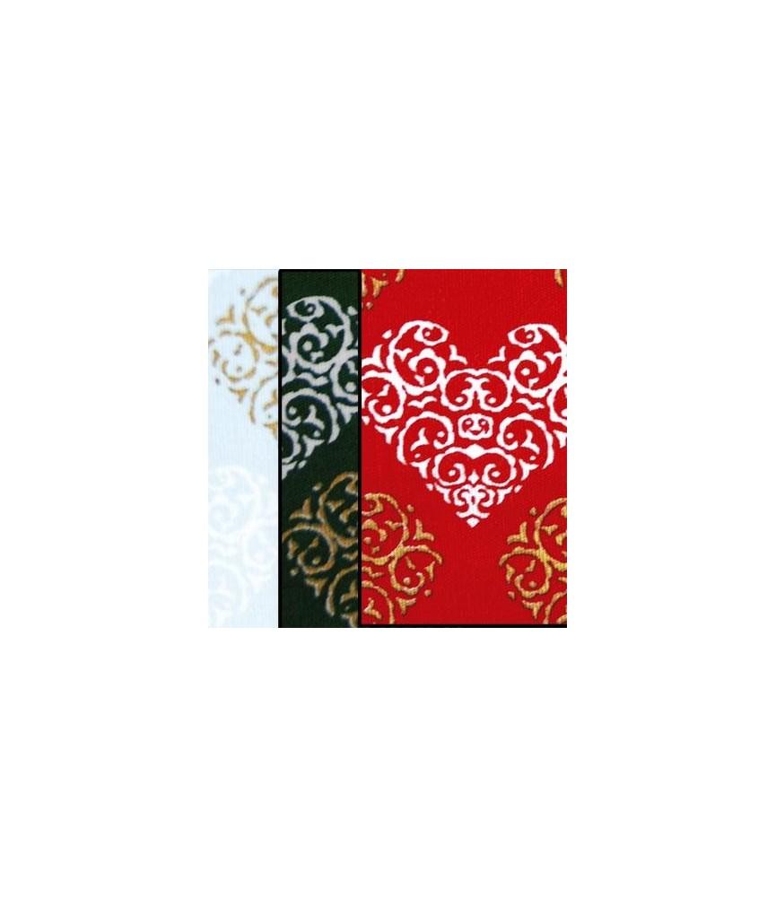 Tela popelin Estampado corazones de navidad 50x45