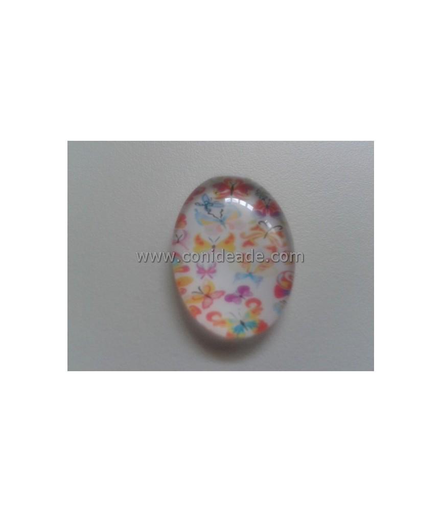 Cabuchon Cristal Mariposas 18x25mm