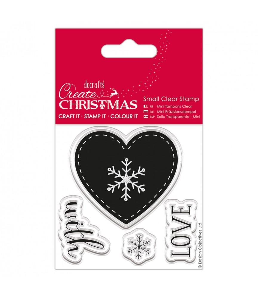 Pack mini sellos transparentes whit love