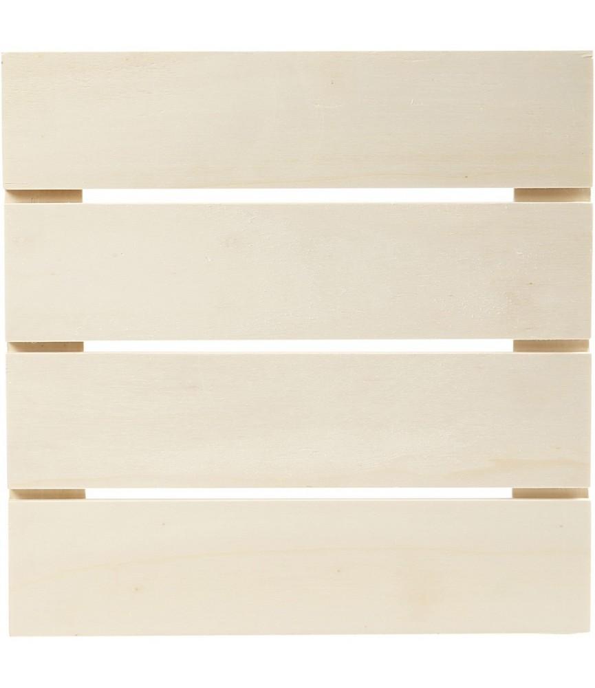 Panel de lamas de madera 28,6cm x 28,6cm