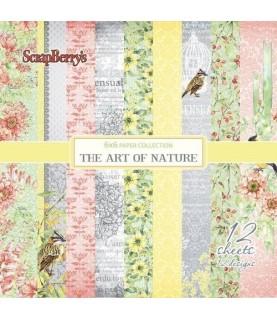 Pack de 8 hojas scrap the art of nature 12x12