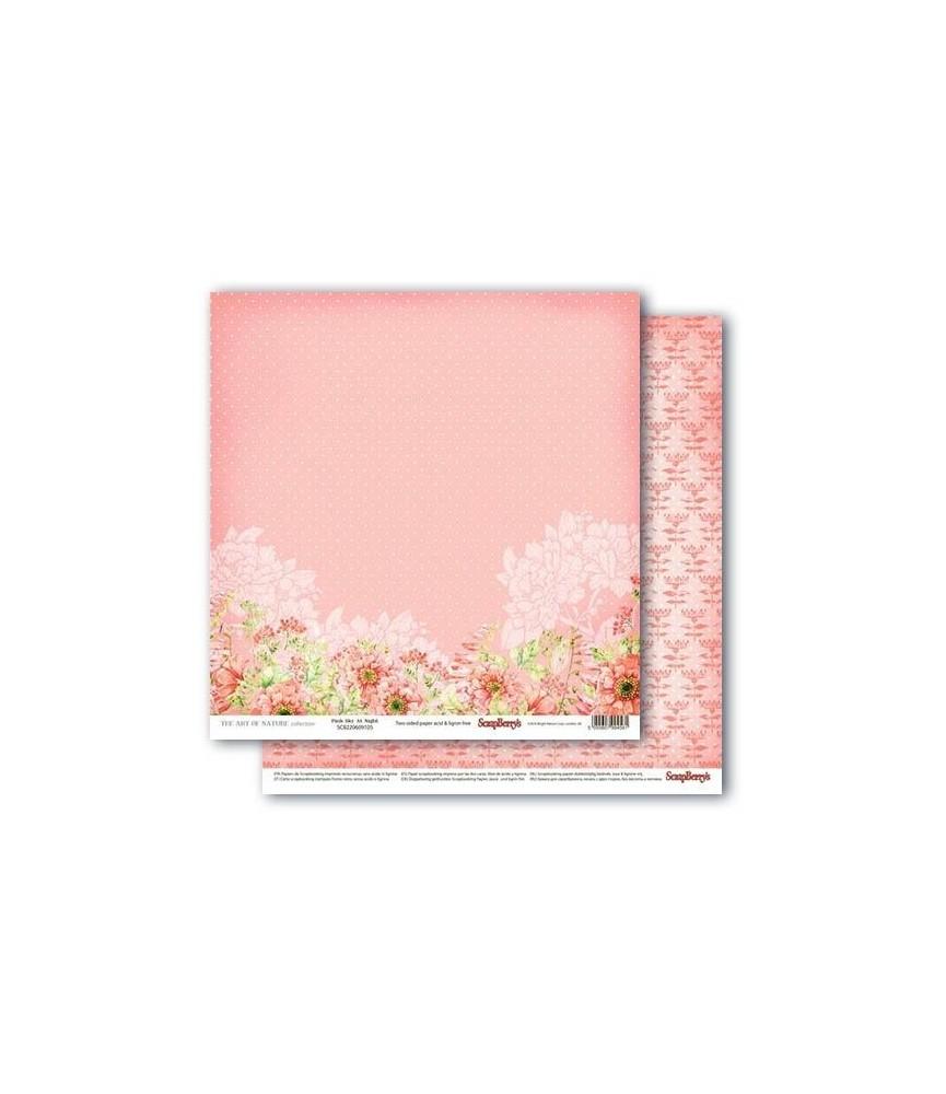 Papel para scrapbook de 30x30 mod pink sky