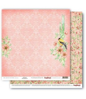 Papel para scrapbook de 30x30 mod birdsong