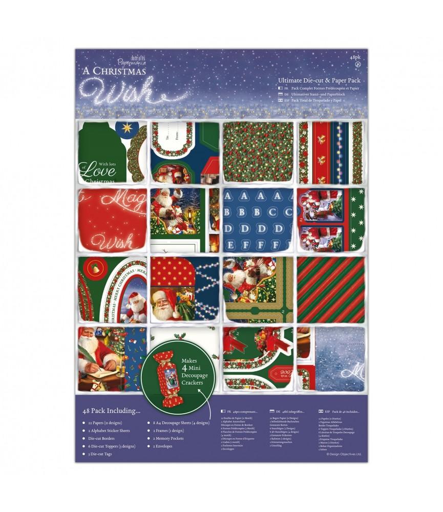 Pack completo de papely troquelados christmas wish