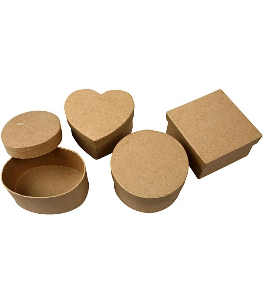 Pack 4 cajas de papel maché