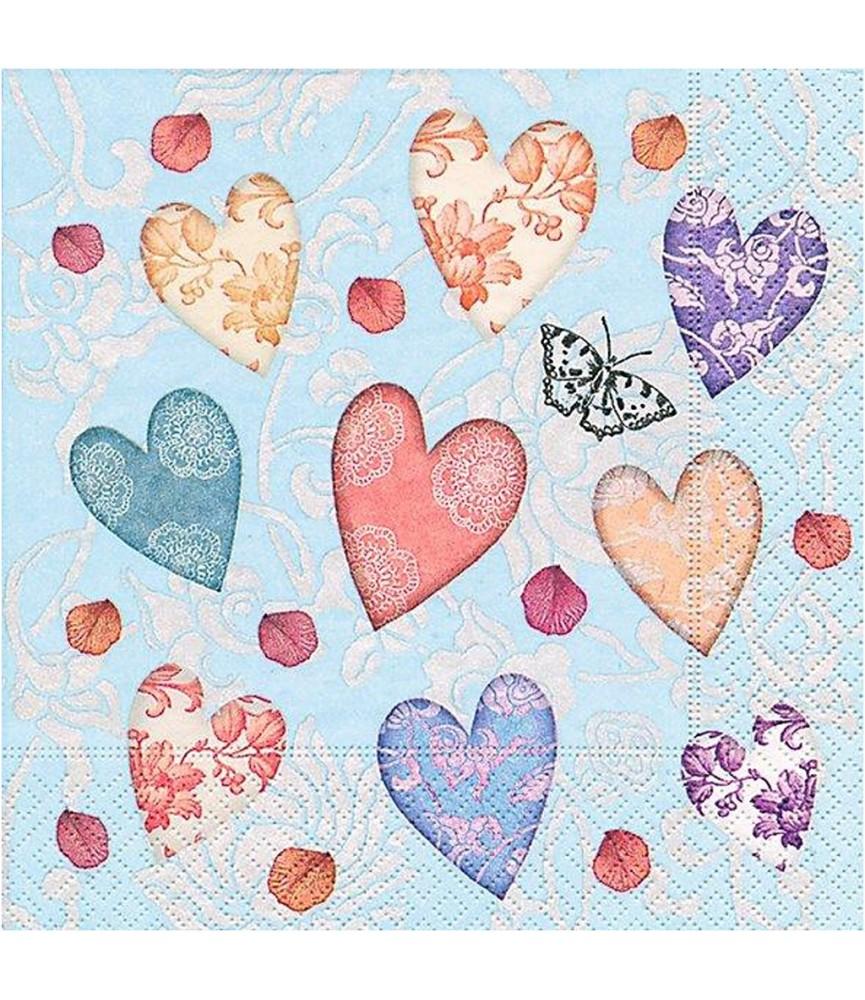 Servilleta Shower of love 33x33 cm