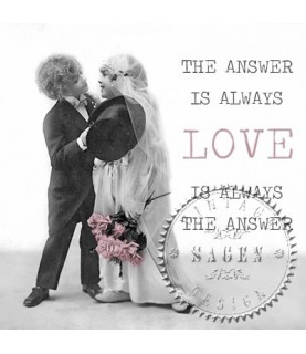 Imagén: Servilleta Vintage love kiss 33x33cm