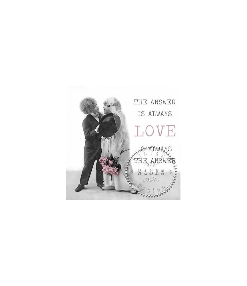 Servilleta Vintage love kiss 33x33cm