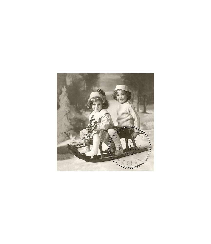 Servilleta Vintage girls 33x33cm