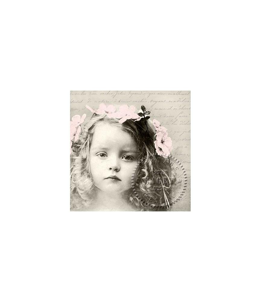 Servilleta Vintage sweet girl 33x33cm