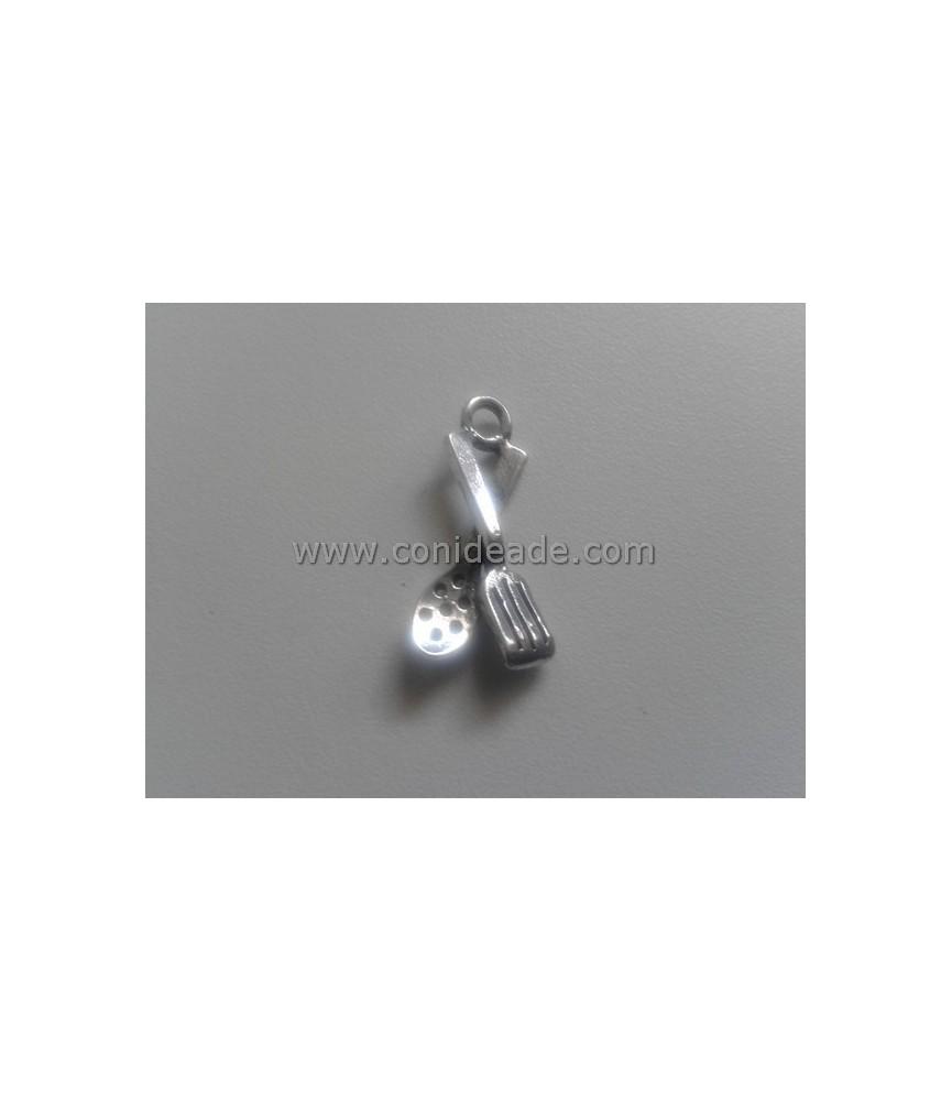 Charm juego cucharas plata 23x12 mm